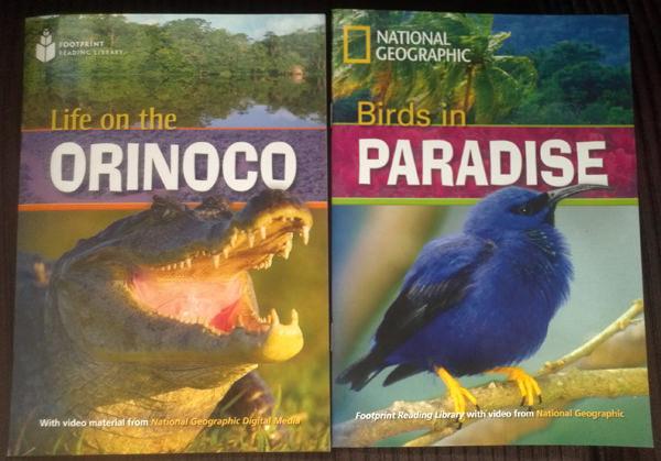 Coleção Footprint Reading Library ilustrado por imagens da National Geographic